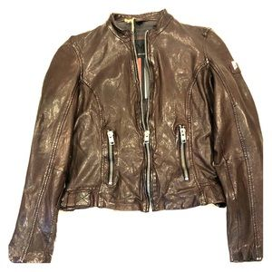 Mauritius Dark Brown genuine leather jacket NWT